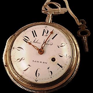Giant 18th Century London Pocket Watch