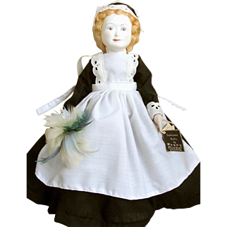 MINT CONDITION Peggy NISBET HEALCRAFT Marked Victorian Doll from the Nursey Rhyme Mondays Child, describing the Seven days of childhood; Saturday Mint Condition and Tagged