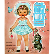"Vintage  Merrill 1956 LUCY LOCKET - KITTY FISHER Mint Paper Dolls ""First Cut Out Book"""