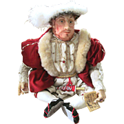 50%+ OFF English Shakespere Henry 8th 1960 Stratford-On-Avon Doll All Hand Made and Original Design