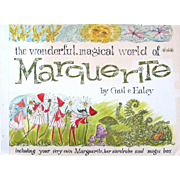 SALE! Vintage 1964 Mint Large Book; MARGUERITE by Gail Haley with Marguerite, her WARDROBE and MAGIC BOX. For a child 4-6 Years Old