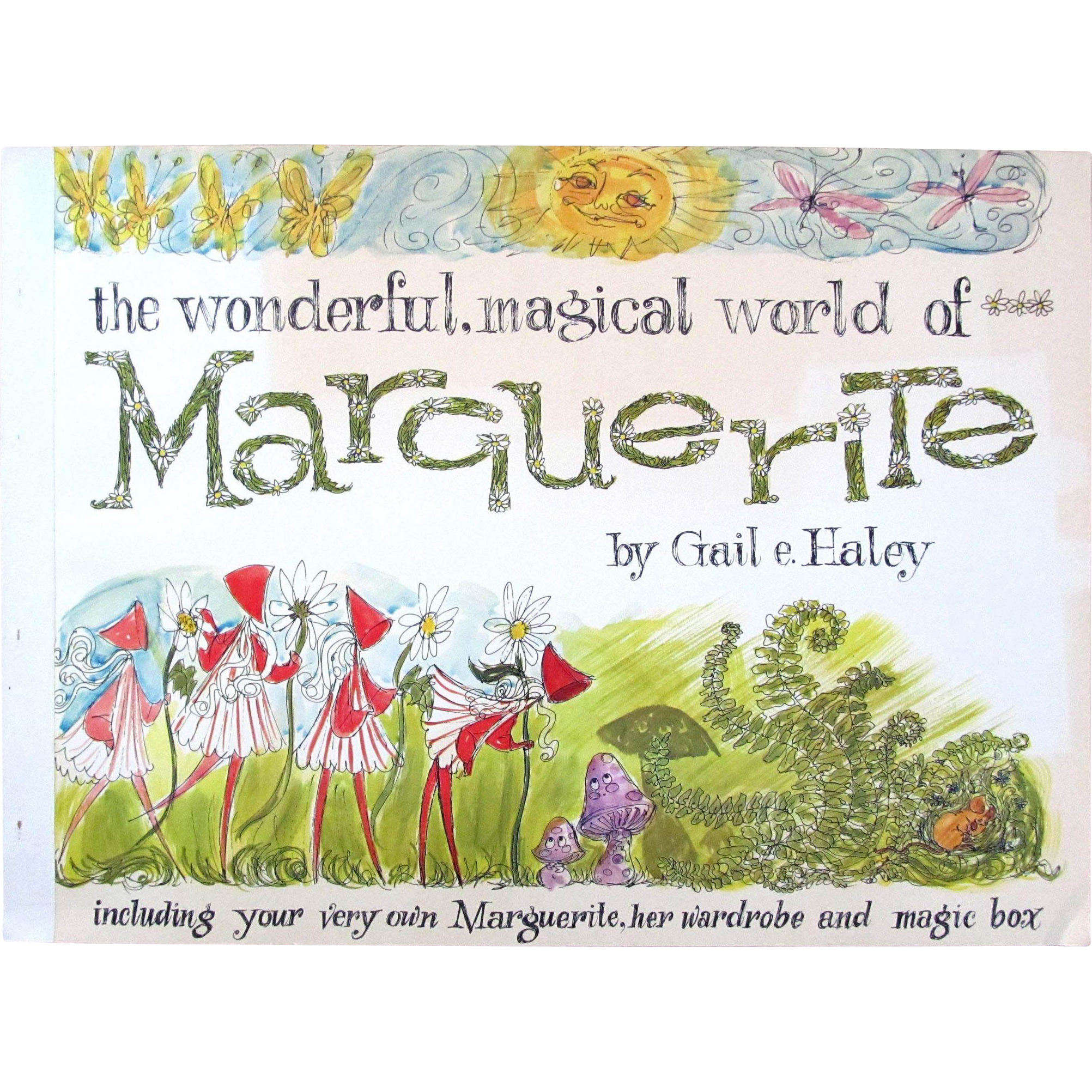 SALE Vintage 1964 Mint Book MARGUERITE by Gail Haley with