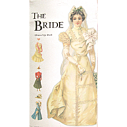 VINTAGE ENGLISH Paper Doll VICTORIAN BRIDE with Four Costumes and Hats; Shiny Embossed Heavy Card Stock, Mamelok Press Limited, England