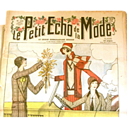 40% OFF 1929 & 1922 French LE PETIT ECHO de la Mode Fashion Magazine Newsprint Patterns Articles - Red Tag Sale Item