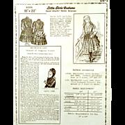 "Vintage Mint LITTLE GIRLS COSTUME Ulseth Shannon; Original Envelope 1888: 18-20"" Doll from Delineator: DRESS, GUIMPE, BONNET"