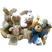 4 - BOYDS BUNNIES & BEAR INVESTMENT COLLECTABLES - ARCHIVE COLLECTION 1990