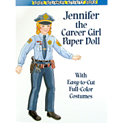 JENNIFER the CAREER GIRL; One of a series of Career Paper Dolls for Young Girls from DOVER Beginners Activity Books