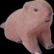 Vintage Folk Art Chipmunk Carving