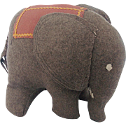 Vintage Hand Made Folk Art Elephant Stuffed Toy