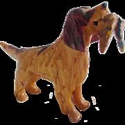 Vintage Hand Carved Maryland Folk Art Spaniel Dog Holding Pheasant #1 - Red Tag Sale Item