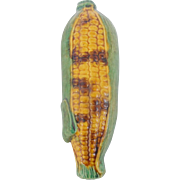 Vintage Primitive Folk Art Pottery Indian Corn Form Flask