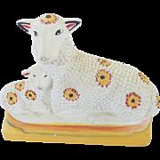 Vintage Liberty Workshop Chalkware Sheep & Lamb