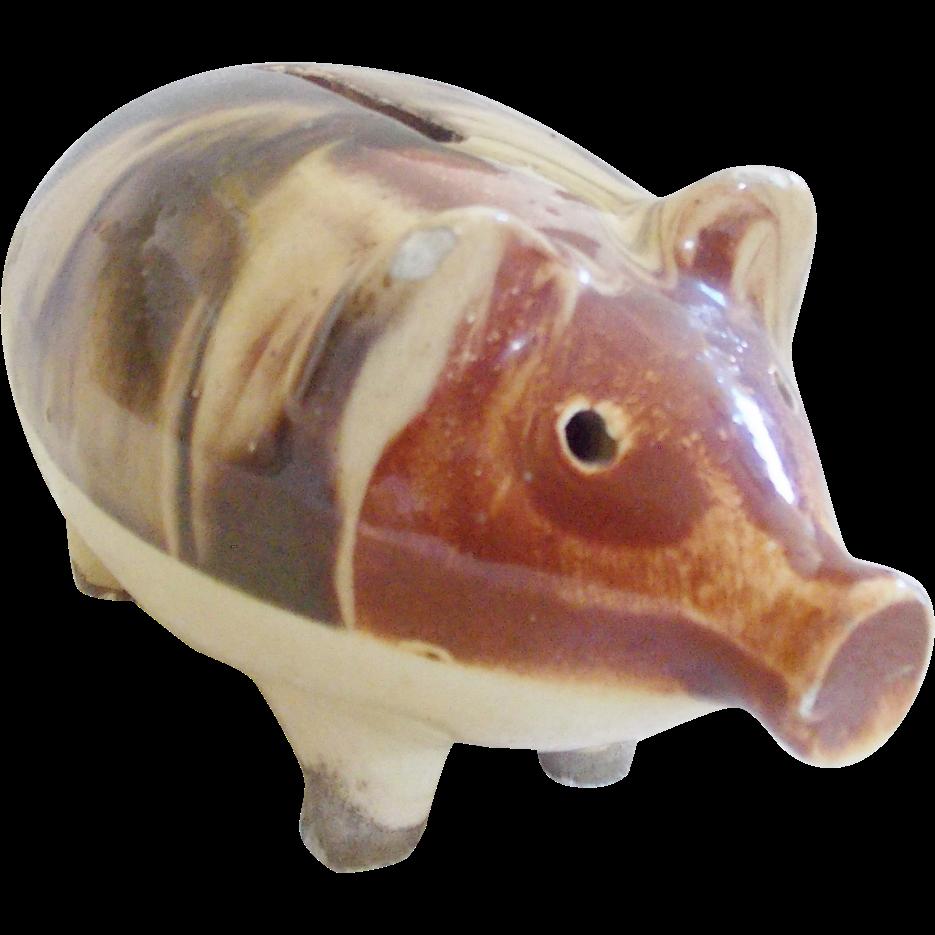 large vintage piggy bank