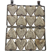 "Vintage 8 Hearts ""To My Valentine"" Iron Chocolate Candy Mold"