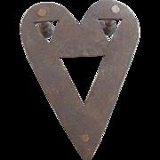 C. 1810 Primitive Blacksmith Made New England Folk Art Heart Form Trivet