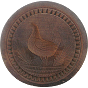 Rare 19th C. Folk Art Hen Chicken Butter Print Mold From My Collection