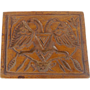 19th C. Double-Sided PA. Folk Art Cookie Print With Eagle & Tulip From My Collection