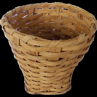 Vintage Primitive Folk Art Splint Basket