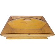 Antique Primitive PA. Folk Art Knife Box in Persimmon Paint