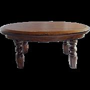 19th C. Primitive Hand Made Single Board Top Walnut Cricket Stool Footstool