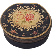 Pre WWII  German Embroidered Round Needle Case