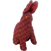 Vintage Folk Art Bunny Rabbit Pin Cushion Whimsy From My Collection