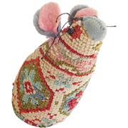 Vintage PA. Folk Art Mouse Pin Cushion From My Collection