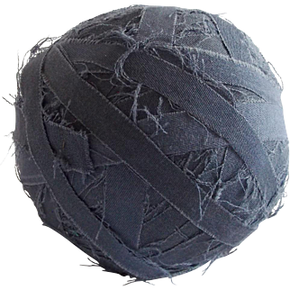 Authentic Early 1900's Blue Fabric Rag Ball