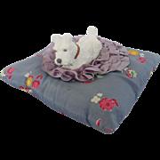 Vintage 1940's Scottie Dog on Pillow Pin Cushion