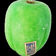 Rare Vintage Italian Stone Fruit/Vegetable Green & Yellow Pepper