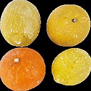 4 Pieces Vintage Italian Stone Fruit inc. 2 Lemons, Tangerine, & Orange