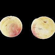 2 Vintage Italian Stone Fruit Peaches