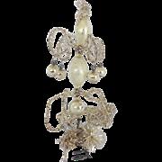 Diminutive Antique C. 1900 Silver Mercury Glass & Tinsel Christmas Tree Topper