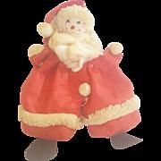 Cute Vintage Handmade Folk Art Santa Claus Bean Bag Toy