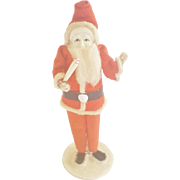 Vintage Santa Claus with Celluloid Face Holding Candle From My Collection