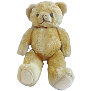 "Vintage 11 1/2"" Gold Mohair Jointed Teddy Bear"