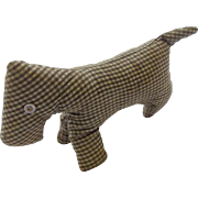 Late 19th to Early 20th C. PA. Folk Art Amish Scotty Dog From My Collection