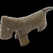 Rare Late 19th to Early 20th C. PA. Folk Art Amish Scotty Dog Stuffed Toy