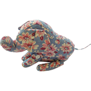 Vintage 1940's-50's Folk Art Elephant Stuffed Toy From My Collection