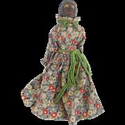 Rare Vintage Super Primitive Black Americana Folk Art Stick Doll