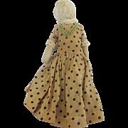 Rare Late 19th C. Super Primitive Folk Art Faceless Rag Doll