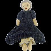 Vintage 1940's Primitive Folk Art Rag Doll - Red Tag Sale Item