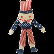 Vintage Americana Red, White, & Blue Humpty Dumpty Stuffed Toy