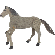 Early 1900's  Folk Art Articulated 2-Sided Horse Toy From My Collection