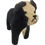 Early 1900's Primitive Folk Art Black & White Dog Stuffed Toy From My Collection