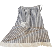 Early 1900's Farm Apron With Handmade Lace Pocket & Ruffle From My Collection