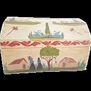 """Vintage Mexican Folk Art Trinket Box Signed """"F. Narvaez"""""""