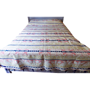 Antique 1846 Berks. Co., PA., 4-Color Coverlet With Birds & Roses From My Collection