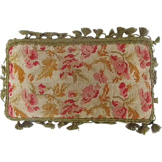 Antique Victorian Small Floral Design Pillow