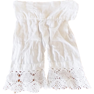 Pair of Early 1900's Pantaloons Bloomers for Porcelain Doll